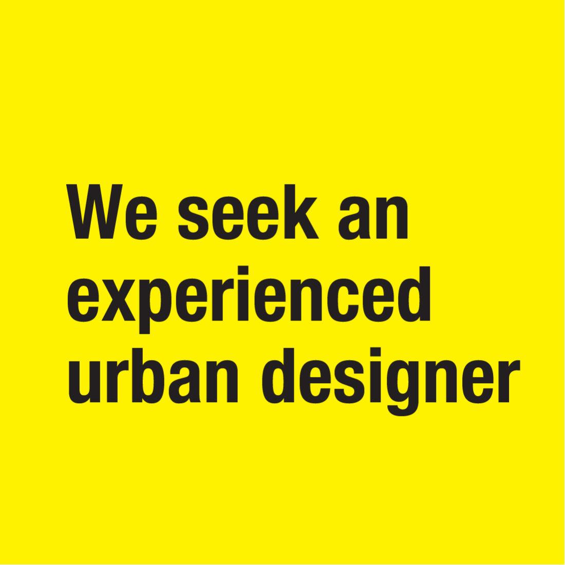 Experienced Urban Designer 01