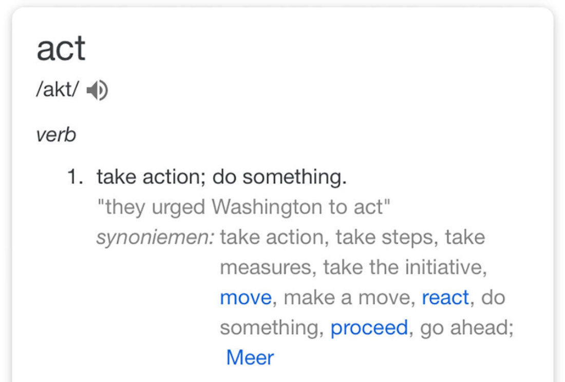 To act